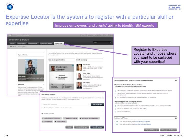 Expertise Locator is the systems to register with a particular skill orexpertise           Improve employees' and clients'...