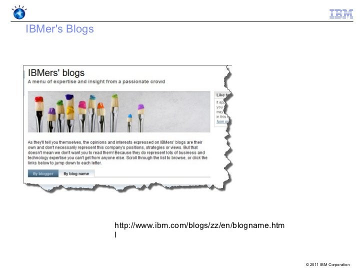 IBMers Blogs                http://www.ibm.com/blogs/zz/en/blogname.htm                l                                  ...