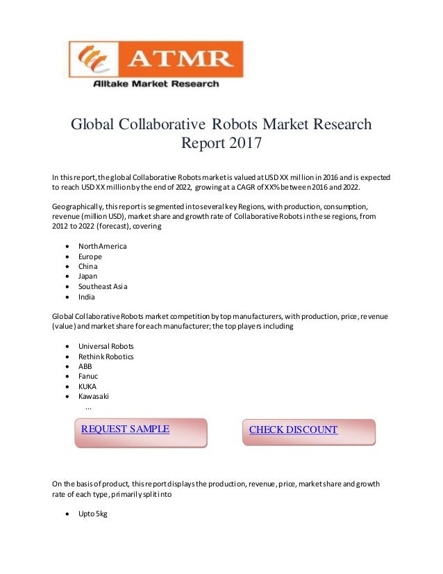 Global Collaborative Robots Market Research Report 2017