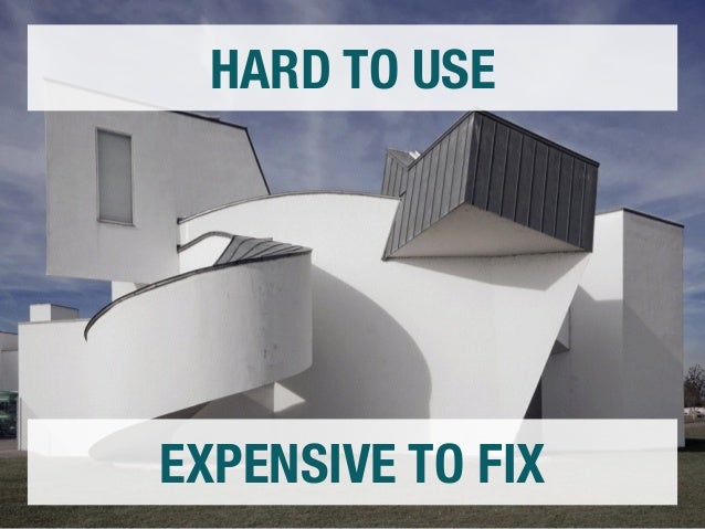 HARD TO USE  EXPENSIVE TO FIX