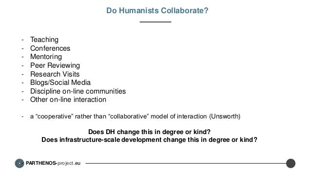 Collaborations within infrastructures Slide 3