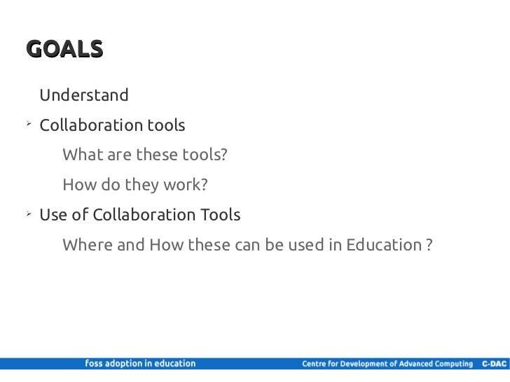 Collaborative Teaching Goals ~ Collaboration tools in education