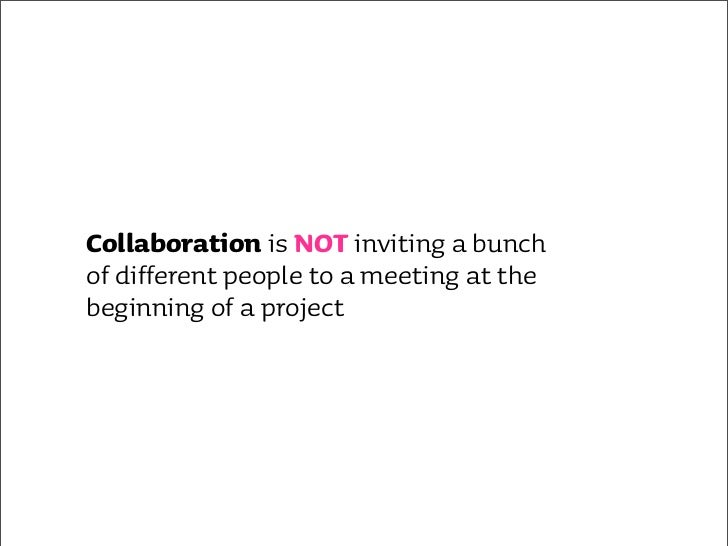 Collaboration is NOT working separately on the same project