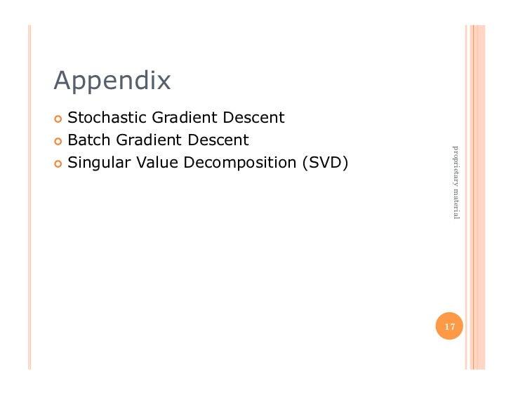 Appendix Stochastic Gradient Descent Batch Gradient Descent                                         proprietary materi...