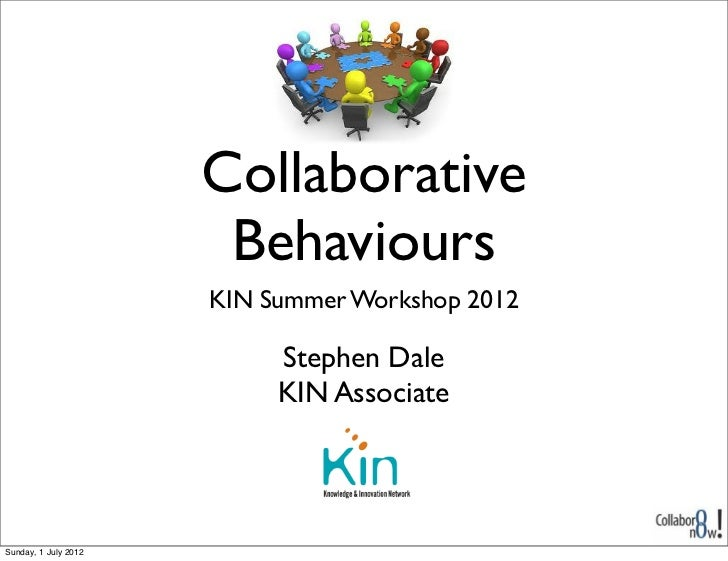 Collaborative                       Behaviours                      KIN Summer Workshop 2012                           Ste...