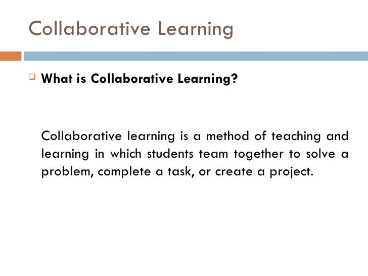 Collaborative Teaching Methodologies ~ Collaborative cooperative active learning