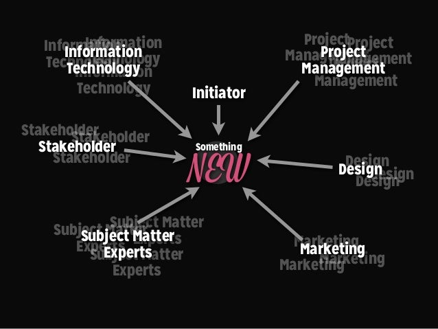 Information Technology Subject Matter Experts Stakeholder Marketing Something NEW Design Project Management