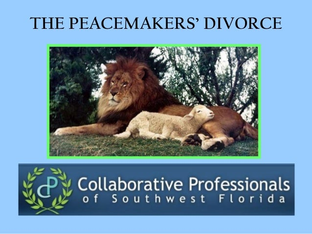 THE PEACEMAKERS' DIVORCE