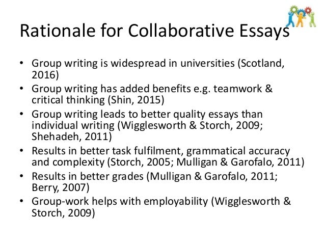 undergraduate collaborative essays constructive not a cop out 4 rationale for collaborative essays