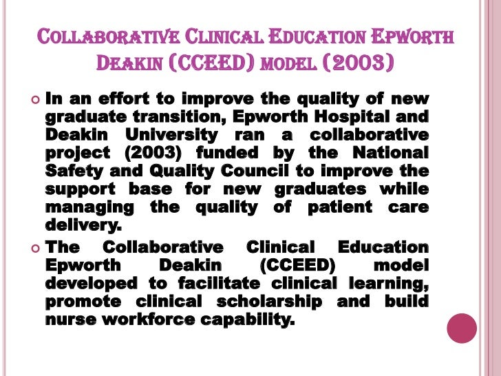 Collaborative Teaching Framework ~ Collaborative issues in nursing