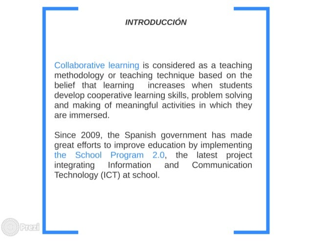 Collaborative Based Teaching ~ Collaborative learning methodologies mediated by ict in