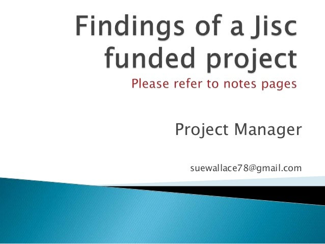 Project Manager suewallace78@gmail.com