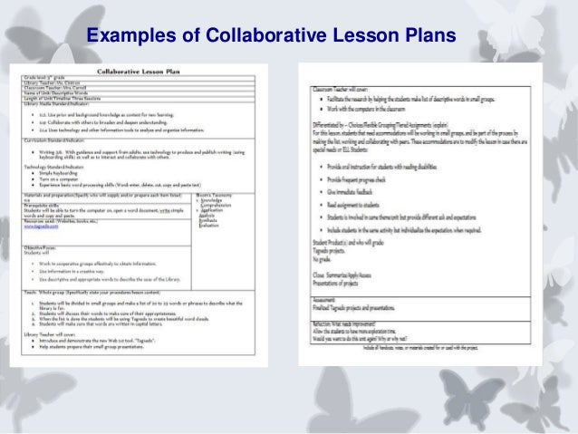 Collaborative partnerships between the library and for Cooperative learning lesson plan template