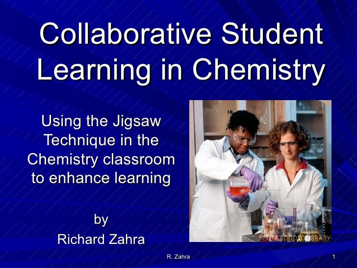 Collaborative Student Research ~ Collaborative student learning in chemistry