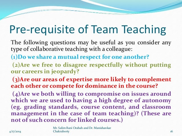 Collaborative Teaching Degree ~ Collaborative teaching by dr manishankar chakraborty and