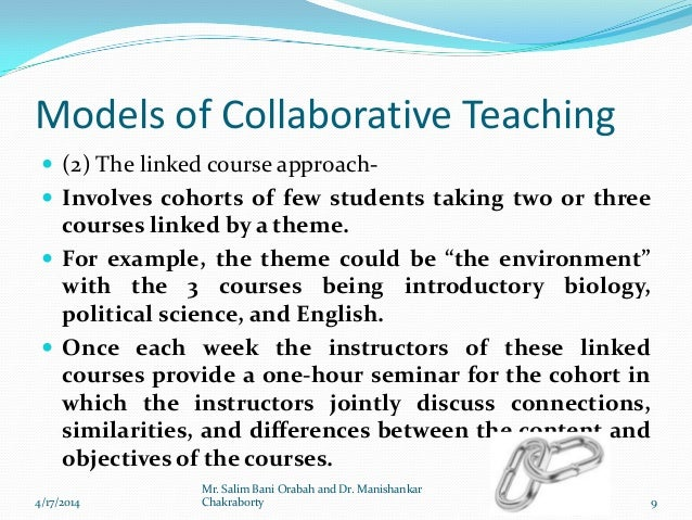 Collaborative Teaching Models : Collaborative teaching by dr manishankar chakraborty and