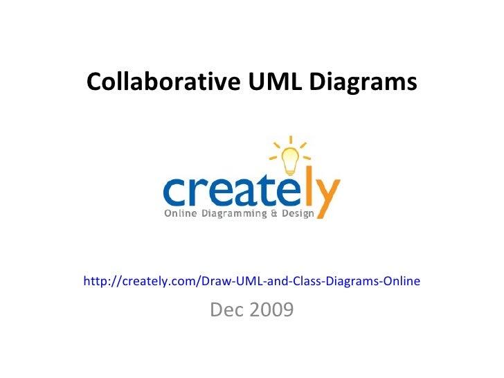 Collaborative UML Diagrams http://creately.com/Draw-UML-and-Class-Diagrams-Online Dec 2009