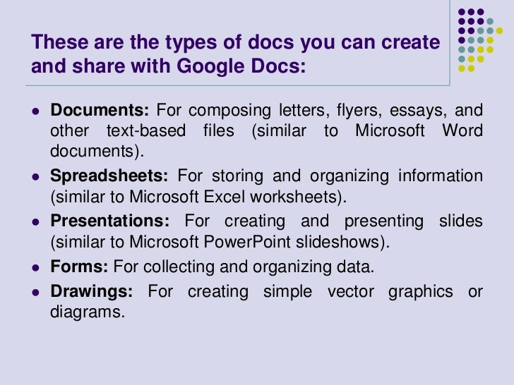 Collaborative Work With Google Docs