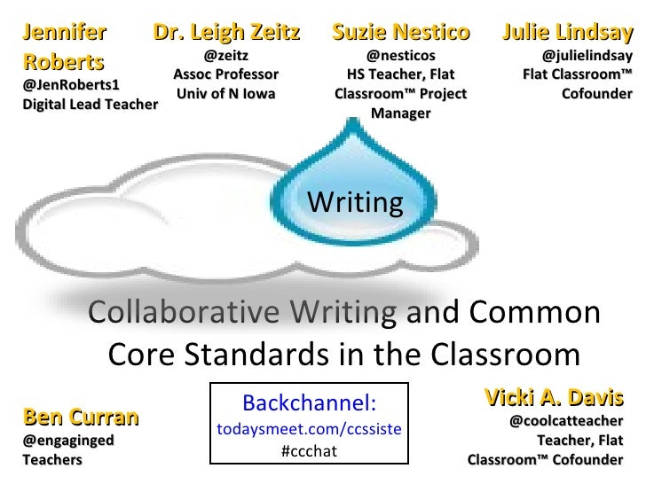 Collaborative Classroom Standards ~ Collaborative writing and common core standards in the