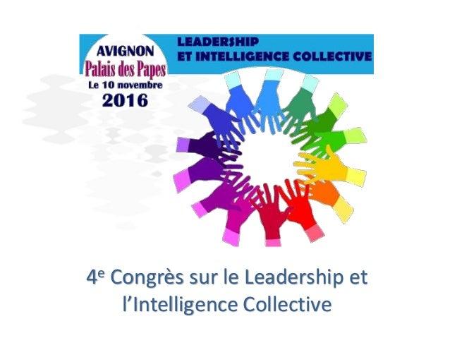 4e Congrès sur le Leadership et l'Intelligence Collective