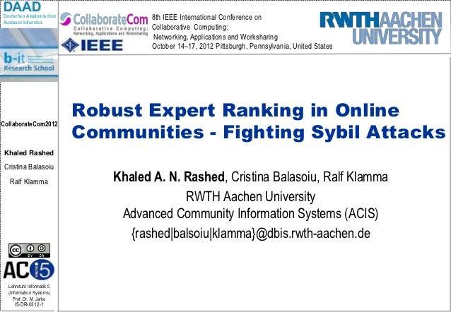 Deutschen Akademischen                8th IEEE International Conference onAustauschdienstes                               ...