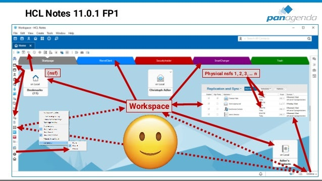 HCL Notes 11.0.1 FP1 Workspace (nsf) Physical nsfs 1, 2, 3, … n