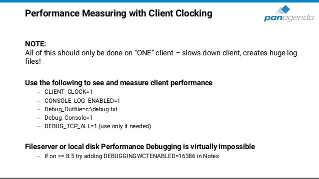 """Performance Measuring with Client Clocking NOTE: All of this should only be done on """"ONE"""" client – slows down client, crea..."""