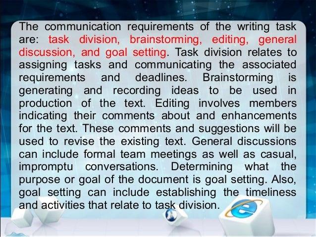 the role of collaborative communication essay Teamwork is the collaborative effort of a team to achieve a common goal or to complete a task  and clearly defined roles within the team in order for everyone to have a clear purpose  high (eg basketball, soccer), depending on the amount of communication, interaction, and collaboration present between team members.