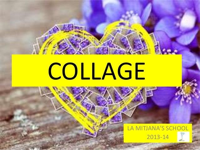 COLLAGE LA MITJANA'S SCHOOL 2013-14