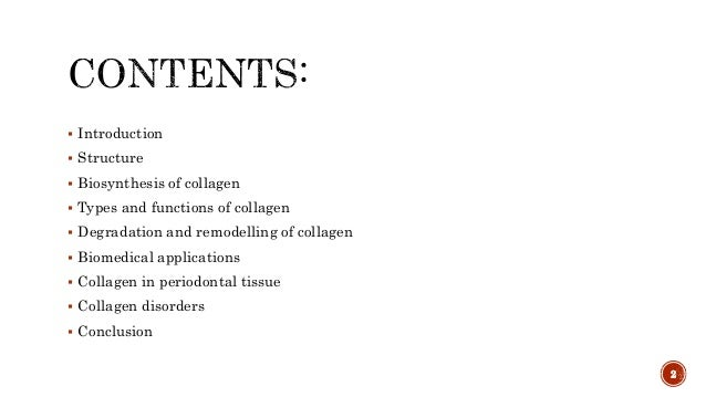 Collagen and collagen disorders Slide 2