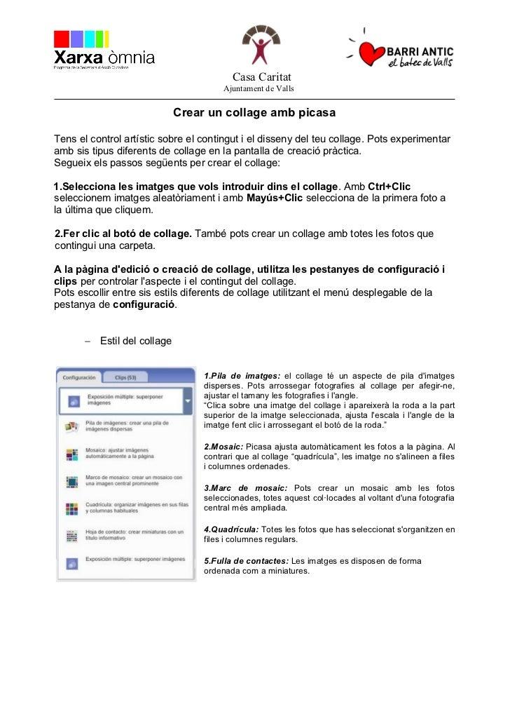 Casa Caritat                                       Ajuntament de Valls                             Crear un collage amb pi...