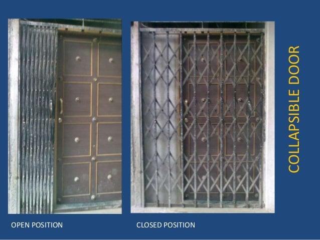 COLLAPSIBLEDOOR OPEN POSITION CLOSED POSITION ... & Collapsible door