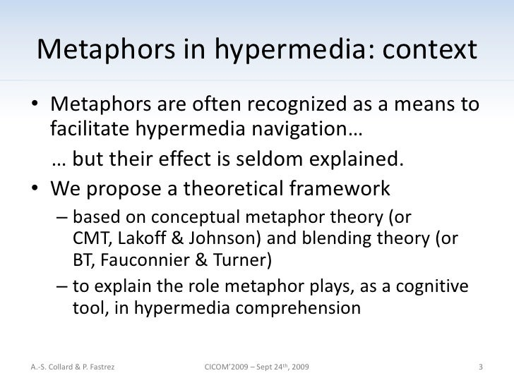 an analysis of metaphor comprehension theories Metaphor and literary comprehension: towards a discourse theory of metaphor in literature 1  analysis of linguistics rather than on a distillation from actual .