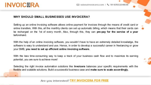 12. TRY INVOICERA FOR FREE ...  Free Online Invoice System