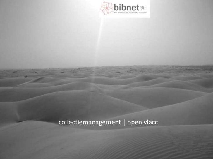 collectiemanagement | open vlacc<br />