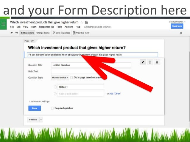 Collecting Data Using Google Docs Forms - Google docs forms