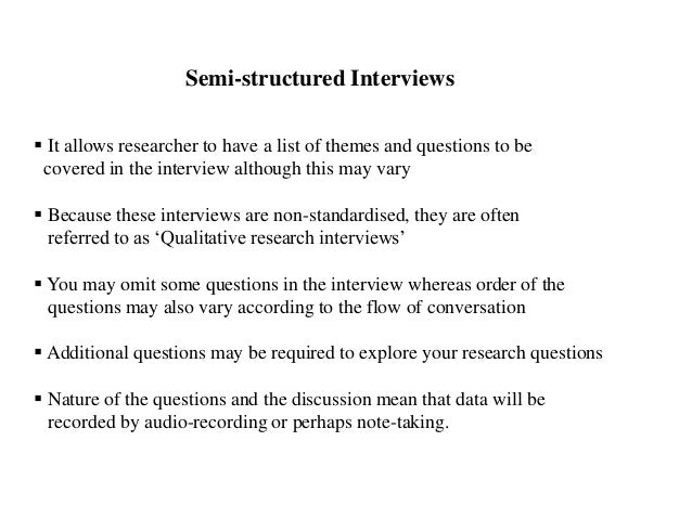 research instrument interview structured It will also provide examples of how data collection methods and instruments are used in relation to human services research as well as managerial research reliability is an important criterion in regards to research and refers to the degree of consistency or stability of a measure.