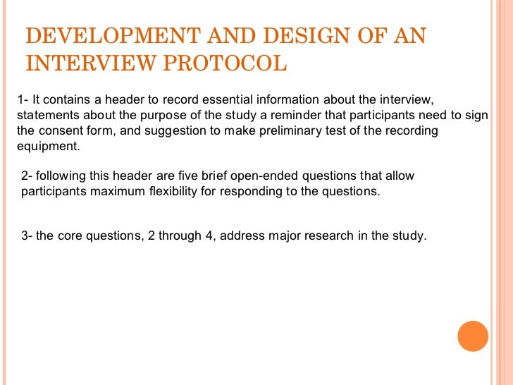 Collecting qualitative data for Qualitative research interview protocol template