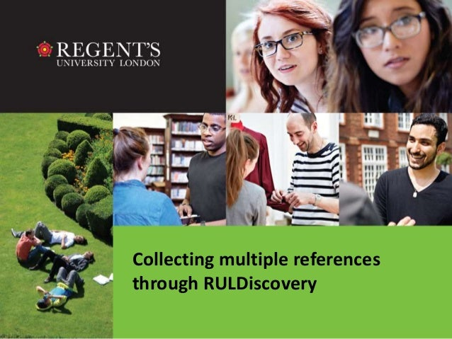 Collecting multiple references  through RULDiscovery
