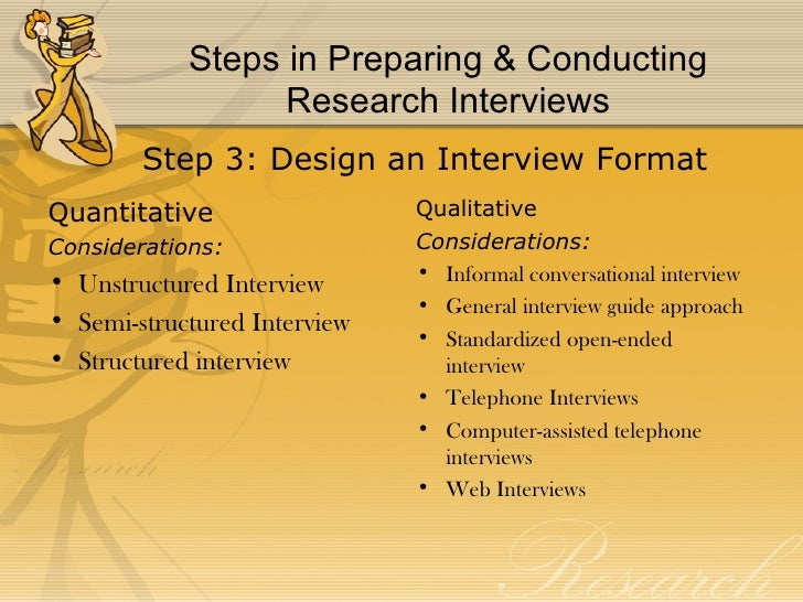 conducting an interview for a research paper Conducting an interview august 31, 2015 write a six to seven (6-7) page essay/research paper/custom written dissertation in which you: 1.