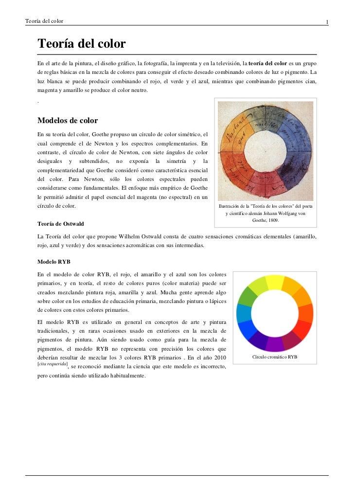 Teoría del color                                                                                                          ...