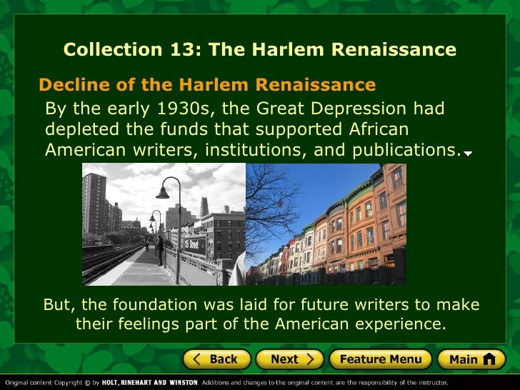 the harlem renaissance an american experience essay Harlem renaissance essay: harlem renaissance is a revival movement of african-american culture in the interwar period its birthplace and home are the neighborhood of harlem, in new york this excitement extends over many areas of creativity, the arts as photography, music, or painting, but it is mainly the literature that is considered the.