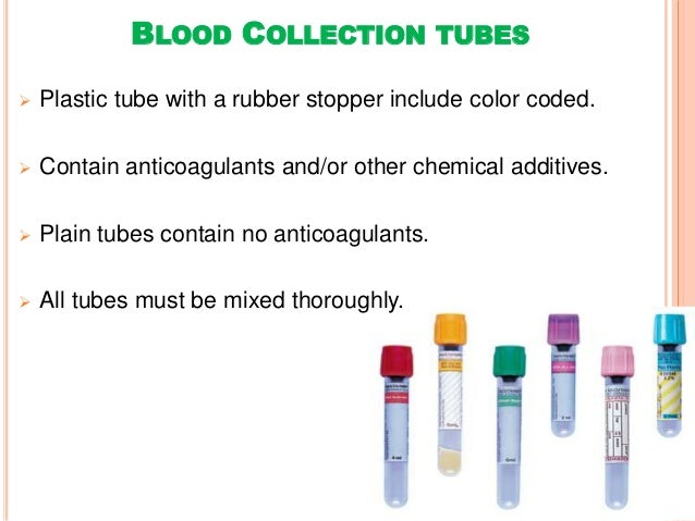 Collection And Handling Of Blood