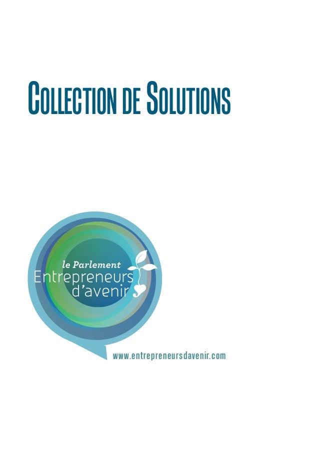 COLLECTION de soluTIONS  www.entrepreneursdavenir.com