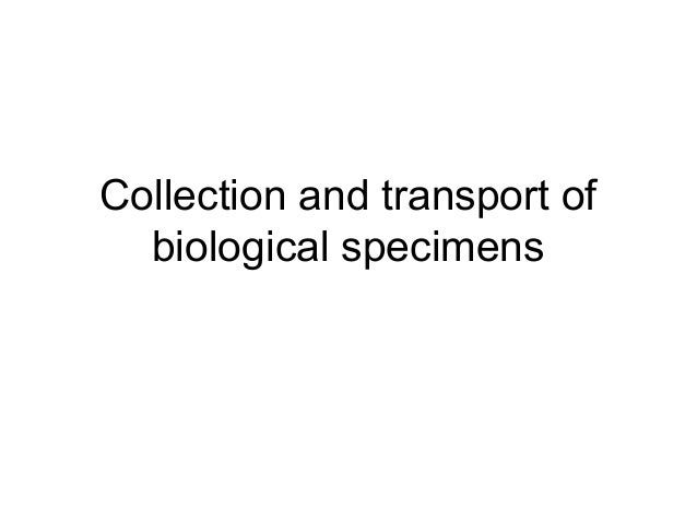 Collection and transport of  biological specimens