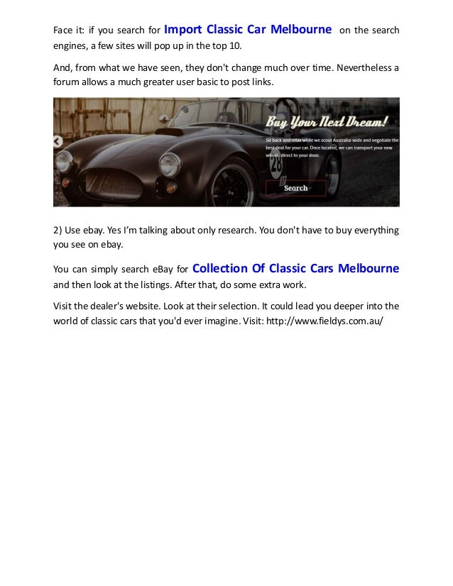 Collection of classic cars melbourne