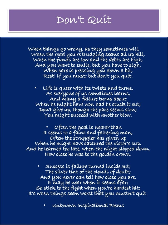 Popular Motivational Poems for Students