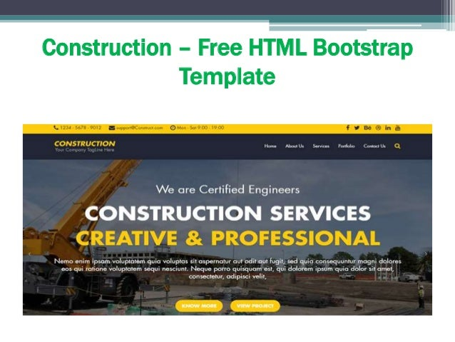 collection of free bootstrap themes and templates