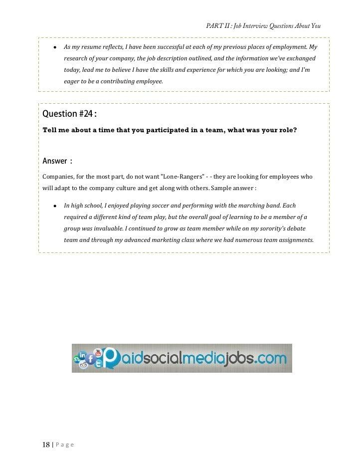  Page; 18. PART THREE Job Interview ...