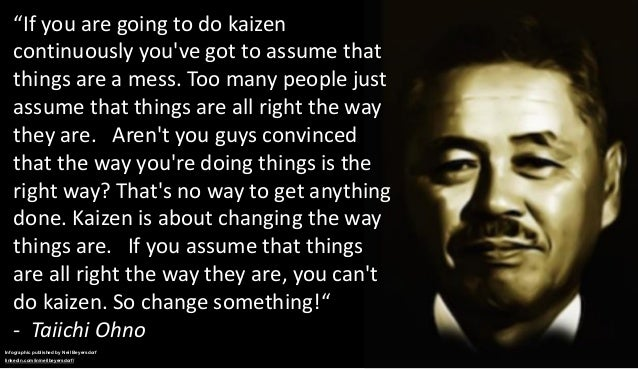 A Collection Of Quotes From Taiichi Ohno